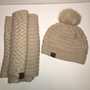 Ivy and Leo | Tan Beanie and Infinity Scarf